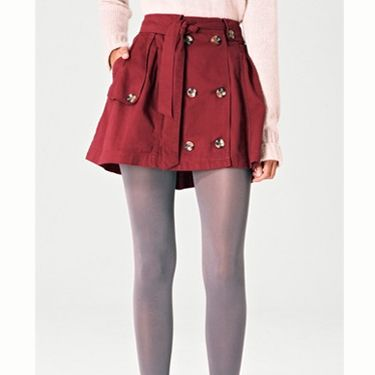 "<p>Show you're not afraid to get your legs out this winter in this  red button skirt wear with some thick knit tight to beat the chill</p><p>£25, <a href=""http://www.fashionunion.com/skirts/red-anna-button-skirt/invt/lskm1094red/"">fashionunion.com</a></p>"