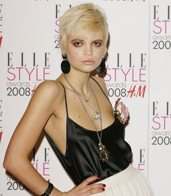 The fashionista lives up to her name donning this edgy pixie crop.