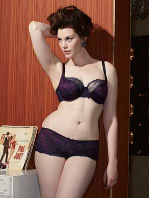 "<p>A satin bra overlaid with delicate lace in a deliciously rich, autumnal shade of navy and plum – truly sumptuous.<br />   <br />   <em><a href=""http://www.simplyyours.co.uk/shop/product/details/show.action?pdLpUid=SX260&pdBoUid=4885&lpgUid=#colour:NAVY/PLUM,size:"" target=""_blank"">Panache Sienna Balconette Bra,</a> £26</em></p>"