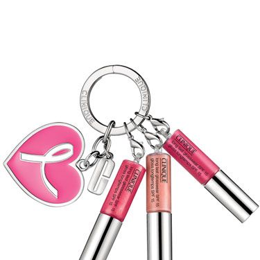 <p>Get this key ring hanging off your bag and you'll never need to fumble frantically in your bag for a lipgloss again. The Clinique Great Lips, Great Cause Key Ring features three bestselling shades – Clearly Pink, Air Kiss and Cabana Crush. </p>