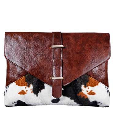 """<p>It's all about mixing textures when wearing leather this season, so this vintage-look envelope clutch is right on trend. </p><br>£28, <a href=""""www.missselfridge.com"""">Miss Selfridge</a>"""