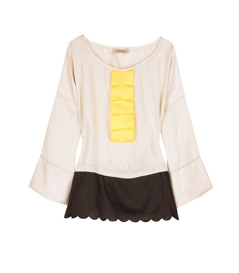"""<strong>Winner:</strong> <a target=""""_blank"""" href=""""http://www.net-a-porter.com"""">www.net-a-porter.com<br /></a><br /><strong>See by Chloe Contrast Ruffle Top £170</strong><br /><br />"""
