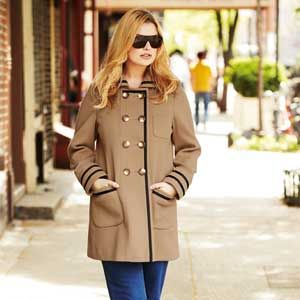 """<p>A stylish cover-up is arguably the most important autumn buy since you're likely to be wearing it every day. This gorgeous double-breasted camel coat with grosgrain ribbon trim is perfect for work or weekends. <br />  <br />    <em><a href=""""http://www.simplybe.co.uk/shop/product/details/show.action?pdLpUid=AX367&pdBoUid=4882&lpgUid=11148585#colour:,size:"""">Angel Ribbons Double-Breasted Coat</a>, £70</em><br />"""