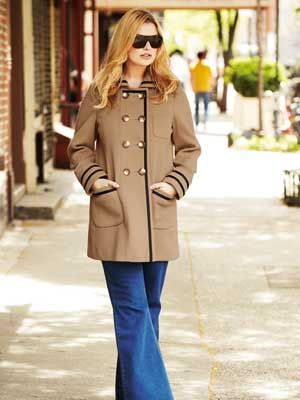 "<p>A stylish cover-up is arguably the most important autumn buy since you're likely to be wearing it every day. This gorgeous double-breasted camel coat with grosgrain ribbon trim is perfect for work or weekends. <br />   <br />     <em><a href=""http://www.simplybe.co.uk/shop/product/details/show.action?pdLpUid=AX367&pdBoUid=4882&lpgUid=11148585#colour:,size:"">Angel Ribbons Double-Breasted Coat</a>, £70</em><br />"
