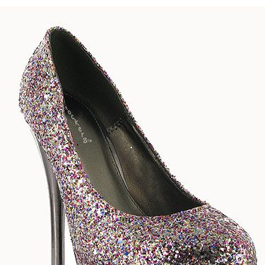 """If you're painting the town red this evening then why not add a bit of glitter to the mix with these amazing shoes! We think you'll be dancing all night long!<p>£35, <a href=""""http://www.chockersshoes.co.uk/category/heels/product/shivosha23/"""">Chockers</a></p>"""