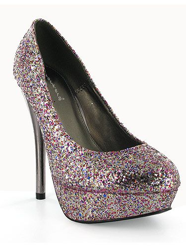 """If you're painting the town red this evening then why not add a bit of glitter to the mix with these amazing shoes! We think you'll be dancing all night long! <p>£35, <a href=""""http://www.chockersshoes.co.uk/category/heels/product/shivosha23/"""">Chockers</a></p>"""
