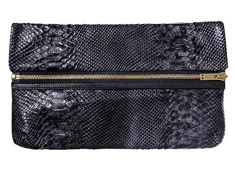 "Wow! The guys at Kurt Geiger have managed to include three trends in just one bag? First we have the snakeskin (massive for AW11), then we have the zip detail (love it!) and finally, it's an oversized clutch. Bravo! <p>£170, <a href=""http://www.kurtgeiger.com/"">Kurt Geiger</a></p>"