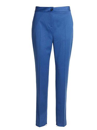 "<p>£129, <a href=""http://www.reissonline.com/shop/womens/casual_trousers/paris/sapphire/#"">Reiss A/W 2011</a></p>"