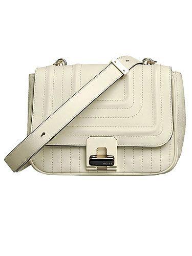 """<p>£169, <a href=""""http://www.reissonline.com/shop/womens/bags/kensington/cream/#"""">Reiss A/W 2011</a></p>"""