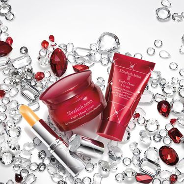 <p>Everyone loves Elizabeth Arden Eight Hour Cream! To celebrate the love, it's been given a royal makeover with a ruby red pot and a sprinkling of jewels. Get your hands on the newly packaged, limited edition Eight Hour Cream, Lip Protectant Stick and Moisturising Hand Treatment before they sell out…</p>