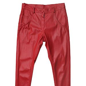 """These are for the brave girlies out there! Embrace your inner vixen with a pair of these t'riffic trousers! They gain extra brownie point with the peg-leg style, we love the gloss leather finish. Gorgeous!<p>£125, <a href=""""http://www.asos.com/Dress-Monster/DRESSMONSTER-Leather-Peg-Trousers/Prod/pgeproduct.aspx?iid=1657975&cid=11150&sh=0&pge=0&pgesize=20&sort=-1&clr=Red"""">Dress Monster at ASOS</a></p>"""