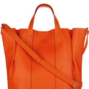 """This bag is the perfect arm candy! Not only will it hold all your daily essentials (and more!), it's super chic and stylish. Plus, we reckon the hot orange shade will brighten up your day when the weather starts to go turn grey and drab<p>£79.50, <a href=""""http://www.bananarepublic.co.uk"""">Banana Republic</a></p>"""