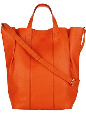 "This bag is the perfect arm candy! Not only will it hold all your daily essentials (and more!), it's super chic and stylish. Plus, we reckon the hot orange shade will brighten up your day when the weather starts to go turn grey and drab <p>£79.50, <a href=""http://www.bananarepublic.co.uk"">Banana Republic</a></p>"