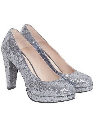 "Ever since Miu Miu showcased their glittery heels we've been OBSESSED with disco shoes. When these glitzy numbers popped up in our inbox we just had to share them with you. Do you like? <p>£150, <a href=""http://www.gannistore.com/"">Ganni</a></p>"