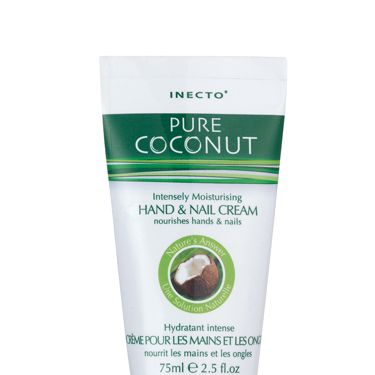 <p>Yum yum, this is our latest beauty crush! Pure Coconut Hand + Nail Cream is a coconut based cream ideal for really dry skin. Coconut oil is currently the making a big name for itself as the ultimate beauty treat for skin, inside and out so this is one to try </p><p>£1.95, available at Superdrug and independent chemists, stockists 020 3178 3049</p>