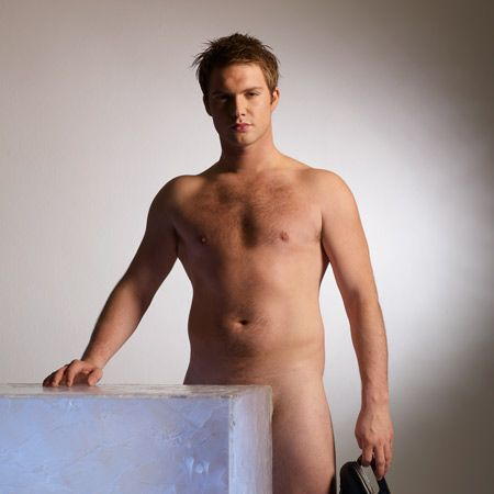 Super sexy and very tasty. The Hollyoaks hunk has us swooning at the screen every weekday playing bad-boy, Justin Burton. He even looked hot in his Dancing On Ice costumes - but as this pic shows, he looks even hotter out of them.  <br />