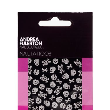 <p>Oh yes, we've just stumbled upon temporary tats for your nails! These 'peel and place' nail tattoos come in spooky shapes like skulls and cross bones ideal for the scariest weekend of the year! Apply onto polish and then finish with a coat of gloss to seal the deal </p>