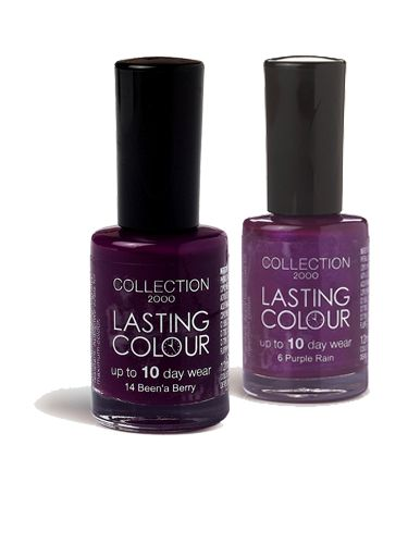 <p>Feeling like flaunting your passion for purple? The new Collection 2000 shades should do the trick! If you love the matching look, paint like a pro and go one shade light or darker on your fingers or toes