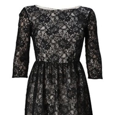 """We all know that black lace is the ultimate fashion trend for AW11, as it adds a touch of gothic romance to any look.Team this with opaques and flats for a cute daytime look or ditch the tights and add some heels for serious nighttime glamour!<p>£110, <a href=""""http://www.frenchconnection.com/category/Woman+New+In/New+Arrivals.htm?f_category_code=WOMAN_NEW_IN_DRESSES"""">French Connection</a></p>"""