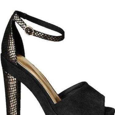 """Add some serious inches to your pins with these leg-lengthening stacked heels. The embellished heel adds a touch of intrigue to any outfit...<p>£29.99, <a href=""""http://www.hm.com/gb/subdepartment/LADIES?Nr=90001#Nr=4294959207&size=100"""">H&M</a></p>"""