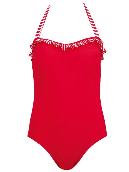 "Transport yourself to the Italian Riviera in this chic but cheap swimsuit from Peacocks.<br /><br />It ticks all the boxes by concealing the mid-rift whilst staying seriously sexy.<br /><br /><strong>Swimsuit, £9, <a target=""_blank"" href=""http://www.peacocks.co.uk"">Peacocks </a></strong><br /><br />"