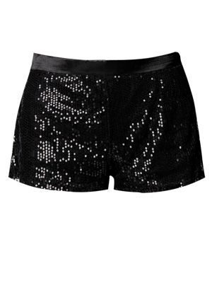 "<p>If you just want to add a touch of sparkle to your outfit then rock these Ava Sequinned Shorts £15. Perfect if you want to your outfit to stay low key but festive at the same time. Team with a grunge tee. </p>  <p><a href=""http://www.boohoo.com/restofworld/collections/sequins/icat/sequins/"" target=""_blank"">boohoo.com</a></p>"