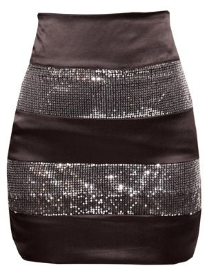 "<p>The perfect multi use skirt, team with a rock t-shirt for a funked-up look or pussy bow blouse for that ultra glam feel. </p>   <p><a href=""http://www.boohoo.com/restofworld/collections/sequins/icat/sequins/"" target=""_blank"">boohoo.com</a></p>"