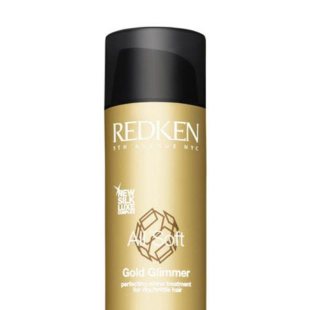 """<p>Redken All Soft Gold Glimmer Shine Enhancing Hair Gelee, £12.75, with Silk Luxe complex and Gold Carmeline. This is a styler with sparkle adding a seductive shimmer to the hair's surface.  </p><p><a target=""""_blank"""" href=""""http://www.redken.com/international/""""><br />Redken</a>, 0800 444 880 <br /></p>"""