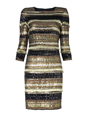 "Oh Mango, what are you doing to us here at Cosmo? We need to shop for other people, but we can't when you're luring us with a delightful frock like this one. With its liquid gold shades and subtle shimmer, we're in metallic heaven <p>£179, <a href=""http://www.mango.com/"">Mango</a></p>"