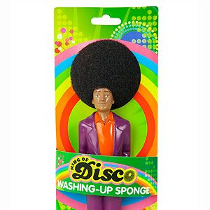 <p>At first glance it looks like a spoof microphone, but it's actually an even cooler invention - a disco washing up sponge! The perfect stocking filler for the girl who enjoys a good sing-a-long while scrubbing the dishes</p>