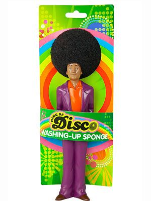 """<p>At first glance it looks like a spoof microphone, but it's actually an even cooler invention - a disco washing up sponge! The perfect stocking filler for the girl who enjoys a good sing-a-long while scrubbing the dishes</p> <p>£7.50, <a href=""""http://www.joythestore.com/p-26464-disco-washing-up-sponge.aspx"""">Urban Outfitters</a></p>"""