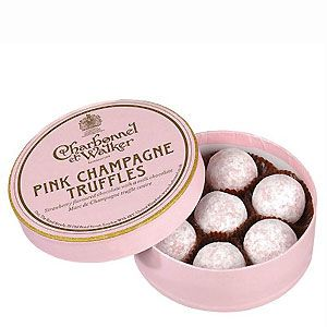 <p>They say chocolate and champagne are among a girl's favourite things, so it makes perfect sense to combine the two! Why not treat a chocolate-lover to a cute pink tin of truffles - they might even offer you a choccy!</p>