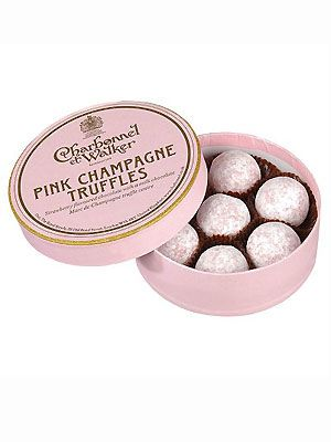 """<p>They say chocolate and champagne are among a girl's favourite things, so it makes perfect sense to combine the two! Why not treat a chocolate-lover to a cute pink tin of truffles - they might even offer you a choccy!</p> <p>£9.75, <a href=""""http://www.johnlewis.com/158185/Product.aspx"""">Charbonnel et Walker at John Lewis</a></p>"""
