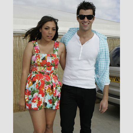 <p>The presenters looked hot in the sunshine hosting this year's T4 on the Beach</p>