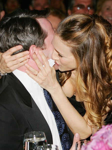 Another couple who've gone the length, SJP and Matthew are still looking loved up and lip-locked  <br />