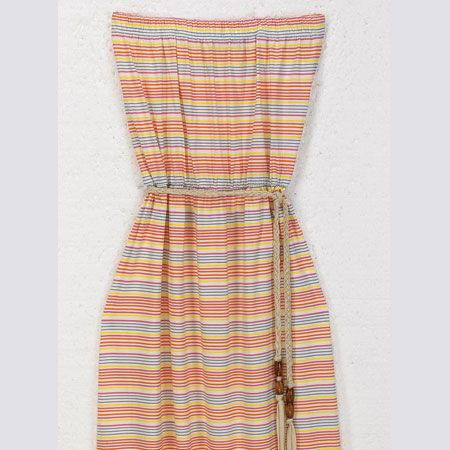 """<p> <br />When you need to take cover, avoid strap marks with this perfect pool-side, tuti fruiti number</p>    <p><br />Striped beach dress, £20, <a target=""""_blank"""" href=""""http://www.lauraashley.com/icat/dresses?curpage=3&bsref=lauraashley"""">lauraashley.com</a> </p>"""