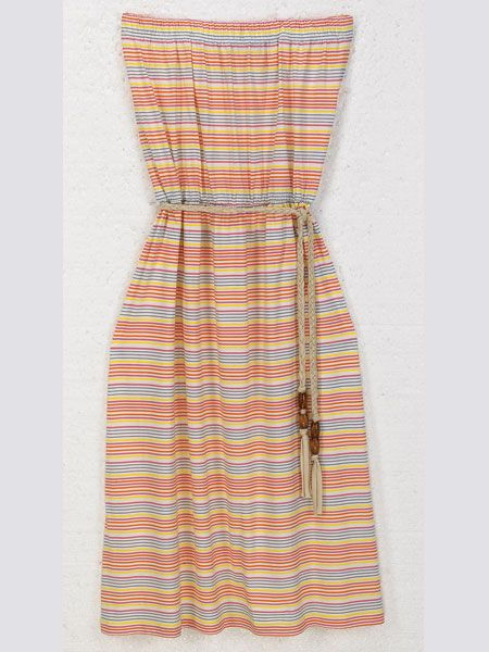"<p> <br />When you need to take cover, avoid strap marks with this perfect pool-side, tuti fruiti number</p>    <p><br />Striped beach dress, £20, <a target=""_blank"" href=""http://www.lauraashley.com/icat/dresses?curpage=3&bsref=lauraashley"">lauraashley.com</a> </p>"