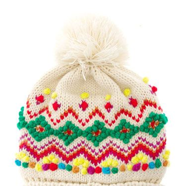 """<p>It's all about geek-chic knits this winter and this bright bobble hat, with mini pom-pom trimmings, will capture the look perfectly.</p><p>Hat, £15, <a href=""""http://www.asos.com/"""">ASOS</a></p>"""