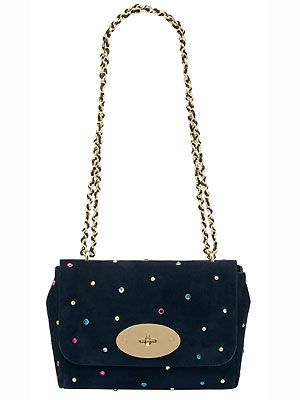 """<p>Oh Mulberry, what are you doing to us? We've already asked Santa for our Christmas wish list and now you go and show us this little beauty. Mean, just mean. We wonder if we can make the last post...</p><p>Lily with gems in Nighshade Blue Suede, £850, <a href=""""http://www.mulberry.com/#/storefront/search/6684/moreviews/lily/"""">Mulberry</a></p>"""
