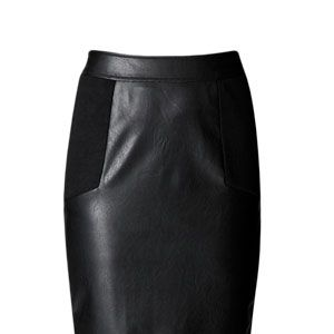 """<p>Plether is the hot fabric for autumn/winter and this chic knee-length skirt looks fantastic teamed with a rock t-shirt of more tailored top.</p><p>£18, <a href=""""http://www.boohoo.com/restofworld/collections/tough-glamour/icat/tough-glamour/"""" target=""""_blank"""">boohoo.com</a></p>"""