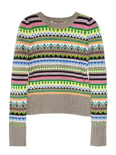 """<p>Statement knits are one of the biggest trends this winter, making this snug neon number a fab investment buy.</p> <p>Jumper, £160, <a href=""""http://www.net-a-porter.com"""">Juicy Couture at net-a-porter.com</a></p>"""