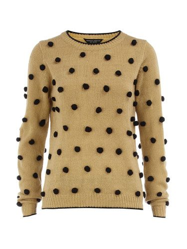"<p>Is your Christmas wardrobe looking a bit dull? Liven things up with this fun jumper covered in playful pom poms.</p> <p>Jumper, £32, <a href=""http://www.dorothyperkins.com"">dorothyperkins.com</a></p>"