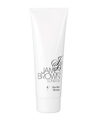 "James Brown Fine Hair Shampoo, £5.99, <a target=""_blank"" href=""http://www.jamesbrownlondon.com/"">www.jamesbrownlondon.com</a>  - body- boosting ingredients include rice protein and oat derived beta-glucans to help achieve the volume and bounce of thicker hair."