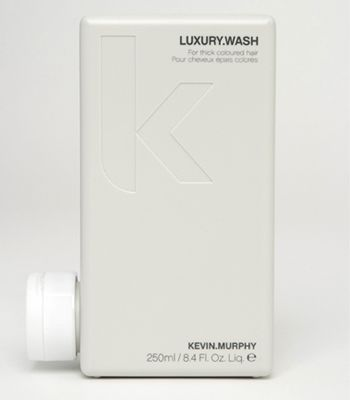"Kevin Murphy Luxury.Wash, £11.95, 01282 613 413, <a target=""_blank"" href=""http://www.kevinmurphystore.com"">www.kevinmurphystore.com</a> - silk proteins have a calming effect on coarse, frizzy locks, and Amino Acids, Mango Butter and Peruvian Bark deliver much needed moisture.  <br />"