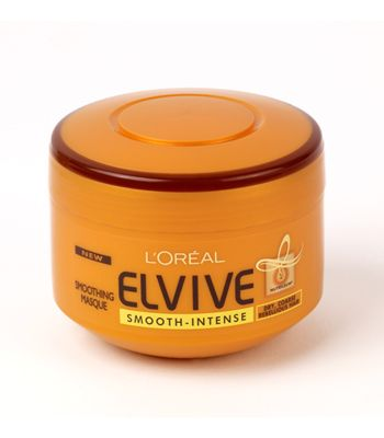 L'Oréal Paris Elvive Smooth-Intense Masque, £2.96, - rinse-out weekly ritual containing intensively nourishing and smoothing Nutrileum®. The exclusive anti-frizz action leaves hair soft, silky and manageable.