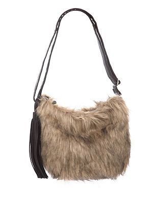 "For an opulent take on the faux fur trend opt for a super-fluffy bag. Team with knitwear and oversized sunnies and add lots of jewellery for boho glamour<p>£13, <a href=""http://direct.asda.com/george/clothing/10,default,sc.html"">George at ASDA</a></p>"