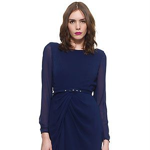"""<p>At Cosmo HQW, we are totally loving the sheer sleeves and belted detail on this little number from Wallis!</p><p>£135, <a href=""""http://www.whistles.co.uk/fcp/categorylist/dept/shop?resetFilters=true#ID=id_903000057521_dresses&category=dresses"""">Wallis</a></p>"""