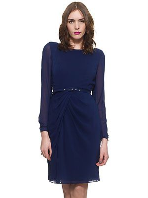 """<p>At Cosmo HQW, we are totally loving the sheer sleeves and belted detail on this little number from Wallis!</p> <p>£135, <a href=""""http://www.whistles.co.uk/fcp/categorylist/dept/shop?resetFilters=true#ID=id_903000057521_dresses&category=dresses"""">Wallis</a></p>"""