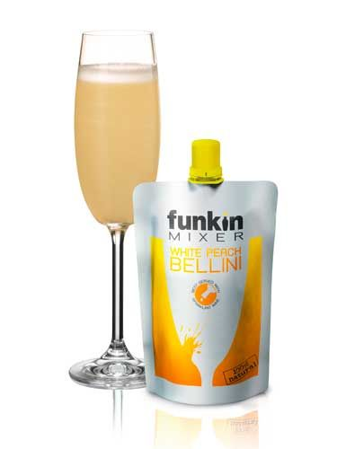 <p>Perfect for creating a cocktail masterpiece in a matter of seconds, the Funkin White Peach Bellini mixer makes creating glamorous cocktails easy, quick and budget-friendly. Simply pour 1 part mixer to 3 parts champagne into a chilled flute glass and you're ready to go. It couldn't be easier – no mess, no stress!</p>