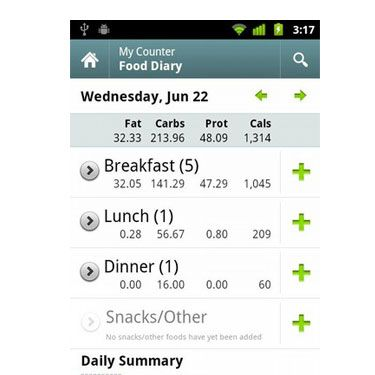 """<p>Keep track of calories in and calories out with this easy to use guide available on the BlackBerry and iPhone. Keep a food and exercise diary and view your progress on the diet calendar. Also included are recipes and meal ideas<br />Free at <a href=""""http://appworld.blackberry.com/webstore/content/1565%20"""" target=""""_blank"""">Blackberry.com</a> and <a href=""""http://itunes.apple.com/us/app/calorie-counter-by-fatsecret/id347184248?mt=8"""" target=""""_blank"""">iTunes</a></p>"""